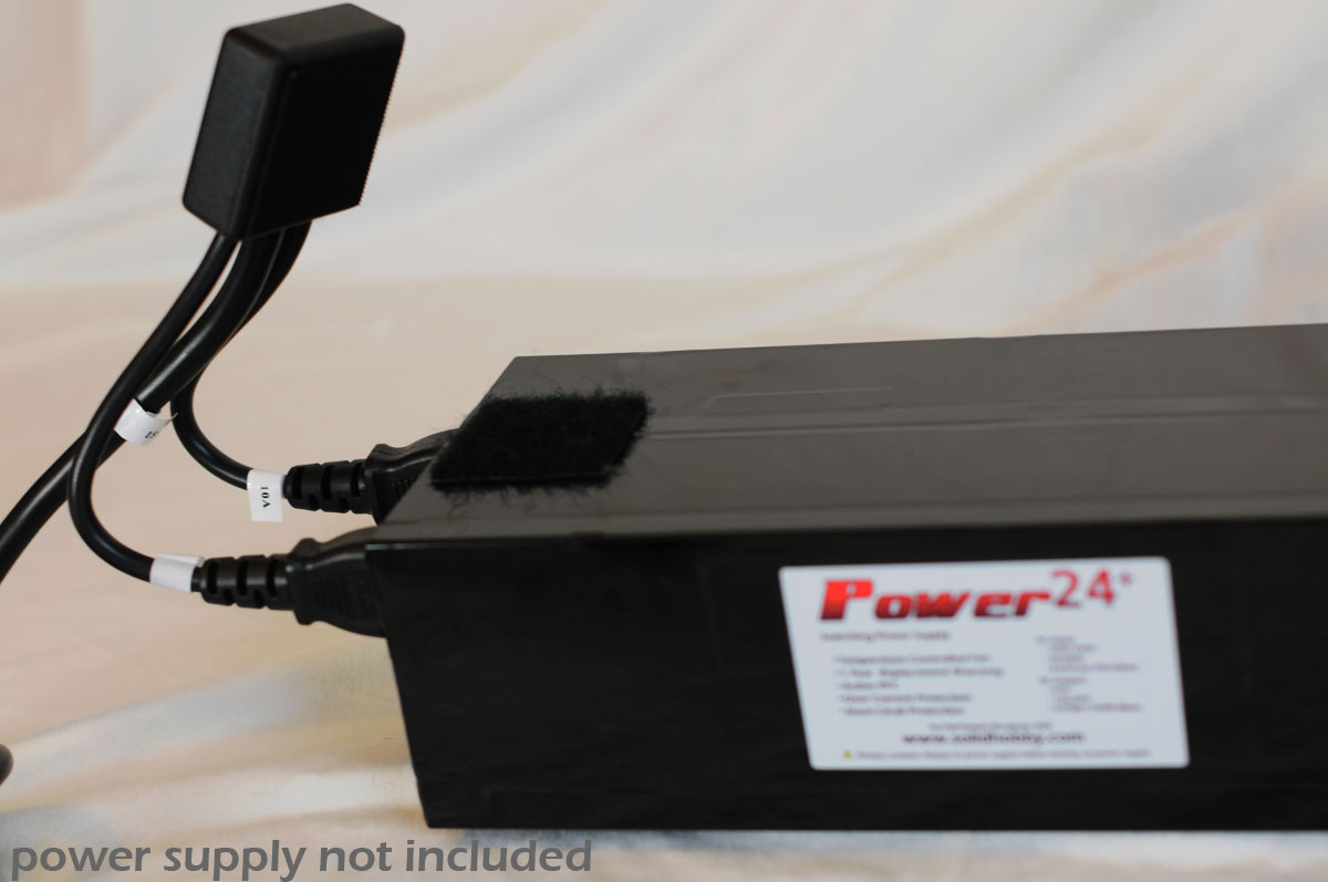 Dual Line Top Mount Design Switched Power Cord - in use - showing Velcro.jpg